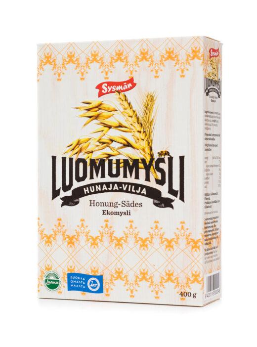 Sysmän_luomuherkut-Hunaja-Vilja Luomumysli 400 g